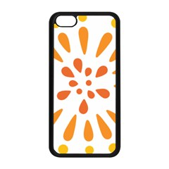 Circle Orange Apple Iphone 5c Seamless Case (black) by Alisyart