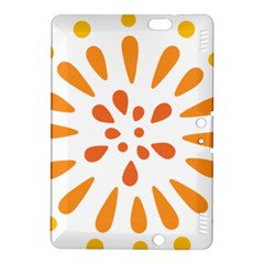 Circle Orange Kindle Fire Hdx 8 9  Hardshell Case by Alisyart