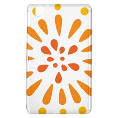 Circle Orange Samsung Galaxy Tab Pro 8 4 Hardshell Case by Alisyart