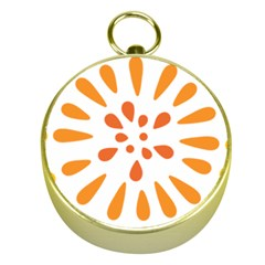 Circle Orange Gold Compasses by Alisyart