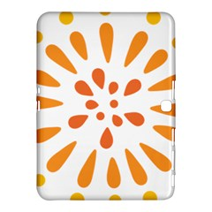 Circle Orange Samsung Galaxy Tab 4 (10 1 ) Hardshell Case  by Alisyart