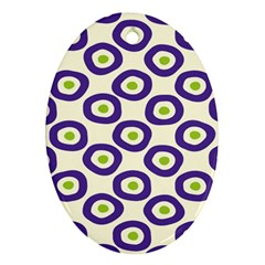 Circle Purple Green White Ornament (oval) by Alisyart