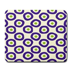 Circle Purple Green White Large Mousepads by Alisyart