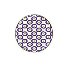 Circle Purple Green White Hat Clip Ball Marker (4 Pack) by Alisyart