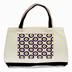 Circle Purple Green White Basic Tote Bag by Alisyart