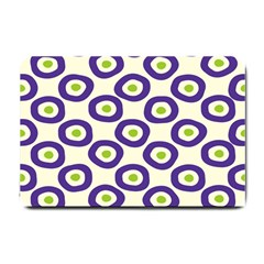 Circle Purple Green White Small Doormat  by Alisyart