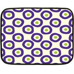 Circle Purple Green White Fleece Blanket (mini) by Alisyart