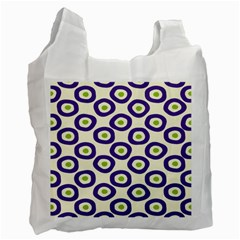 Circle Purple Green White Recycle Bag (two Side)  by Alisyart