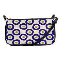 Circle Purple Green White Shoulder Clutch Bags by Alisyart