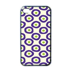 Circle Purple Green White Apple Iphone 4 Case (black) by Alisyart