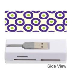 Circle Purple Green White Memory Card Reader (stick)  by Alisyart