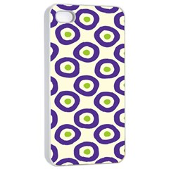 Circle Purple Green White Apple Iphone 4/4s Seamless Case (white) by Alisyart