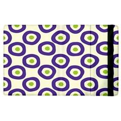 Circle Purple Green White Apple Ipad 2 Flip Case by Alisyart