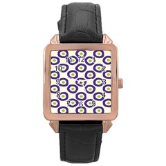 Circle Purple Green White Rose Gold Leather Watch  by Alisyart