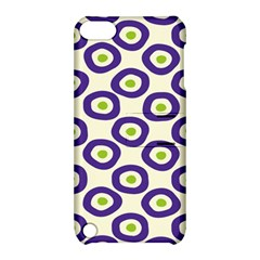 Circle Purple Green White Apple Ipod Touch 5 Hardshell Case With Stand by Alisyart