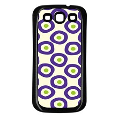 Circle Purple Green White Samsung Galaxy S3 Back Case (black) by Alisyart