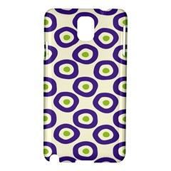 Circle Purple Green White Samsung Galaxy Note 3 N9005 Hardshell Case by Alisyart