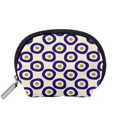 Circle Purple Green White Accessory Pouches (small)  by Alisyart