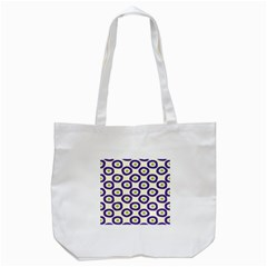 Circle Purple Green White Tote Bag (white) by Alisyart