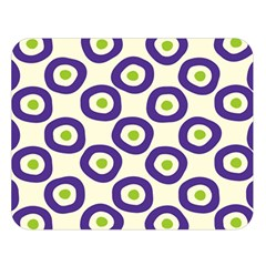 Circle Purple Green White Double Sided Flano Blanket (large)  by Alisyart