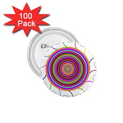 Abstract Spiral Circle Rainbow Color 1 75  Buttons (100 Pack)  by Alisyart
