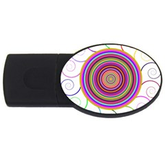 Abstract Spiral Circle Rainbow Color Usb Flash Drive Oval (2 Gb) by Alisyart