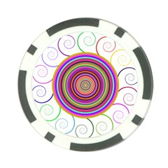 Abstract Spiral Circle Rainbow Color Poker Chip Card Guard by Alisyart