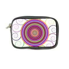Abstract Spiral Circle Rainbow Color Coin Purse by Alisyart