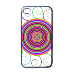 Abstract Spiral Circle Rainbow Color Apple Iphone 4 Case (black) by Alisyart