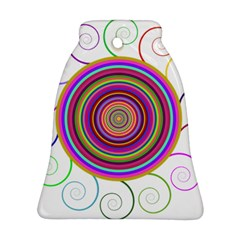 Abstract Spiral Circle Rainbow Color Ornament (bell) by Alisyart