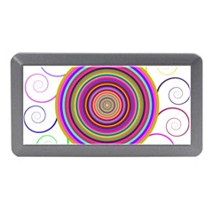 Abstract Spiral Circle Rainbow Color Memory Card Reader (mini) by Alisyart