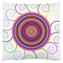 Abstract Spiral Circle Rainbow Color Large Cushion Case (two Sides) by Alisyart