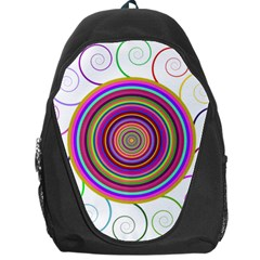 Abstract Spiral Circle Rainbow Color Backpack Bag by Alisyart
