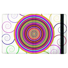 Abstract Spiral Circle Rainbow Color Apple Ipad 3/4 Flip Case by Alisyart