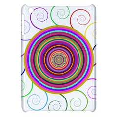 Abstract Spiral Circle Rainbow Color Apple Ipad Mini Hardshell Case by Alisyart