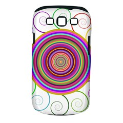 Abstract Spiral Circle Rainbow Color Samsung Galaxy S Iii Classic Hardshell Case (pc+silicone) by Alisyart
