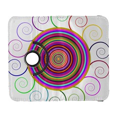 Abstract Spiral Circle Rainbow Color Galaxy S3 (flip/folio) by Alisyart