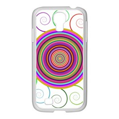 Abstract Spiral Circle Rainbow Color Samsung Galaxy S4 I9500/ I9505 Case (white) by Alisyart