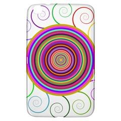 Abstract Spiral Circle Rainbow Color Samsung Galaxy Tab 3 (8 ) T3100 Hardshell Case  by Alisyart