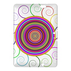 Abstract Spiral Circle Rainbow Color Kindle Fire Hdx 8 9  Hardshell Case by Alisyart