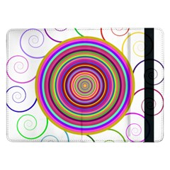 Abstract Spiral Circle Rainbow Color Samsung Galaxy Tab Pro 12 2  Flip Case by Alisyart