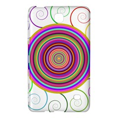 Abstract Spiral Circle Rainbow Color Samsung Galaxy Tab 4 (7 ) Hardshell Case  by Alisyart