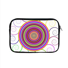 Abstract Spiral Circle Rainbow Color Apple Macbook Pro 15  Zipper Case by Alisyart