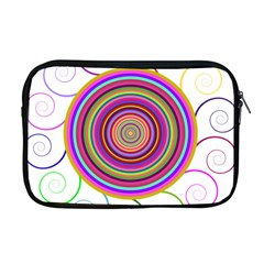 Abstract Spiral Circle Rainbow Color Apple Macbook Pro 17  Zipper Case by Alisyart