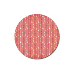 Circle Red Freepapers Paper Magnet 3  (round) by Alisyart