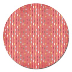 Circle Red Freepapers Paper Magnet 5  (round) by Alisyart