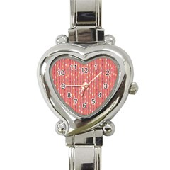 Circle Red Freepapers Paper Heart Italian Charm Watch by Alisyart