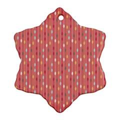Circle Red Freepapers Paper Ornament (snowflake) by Alisyart