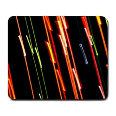 Colorful Diagonal Lights Lines Large Mousepads by Alisyart