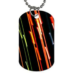 Colorful Diagonal Lights Lines Dog Tag (two Sides) by Alisyart